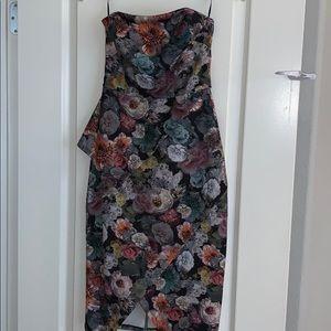 ASOS asymmetric floral dress
